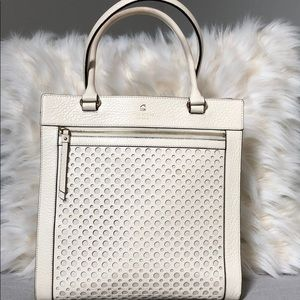 Kate Spade Off-White Leather Tote